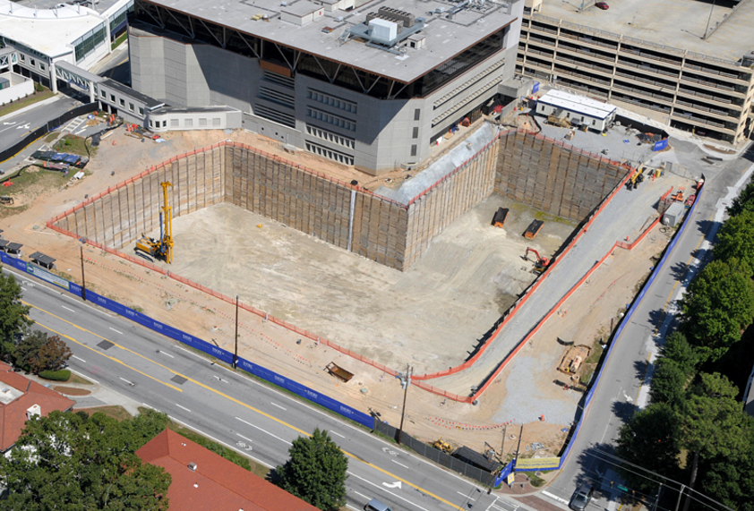 Emory Hospital Wood Lagging_wall